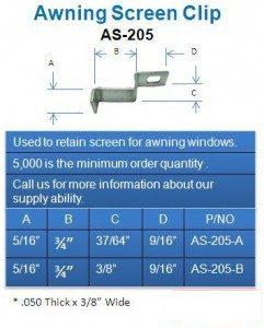 screen stretcher clip
